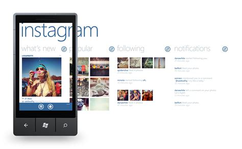 layout from instagram windows instagram concept for windows phone honeytech blog