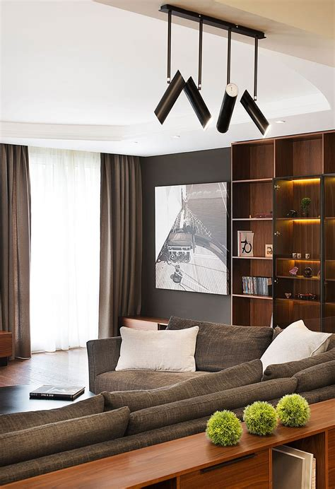 track lighting for family room multi level goodness modern home with a dash of