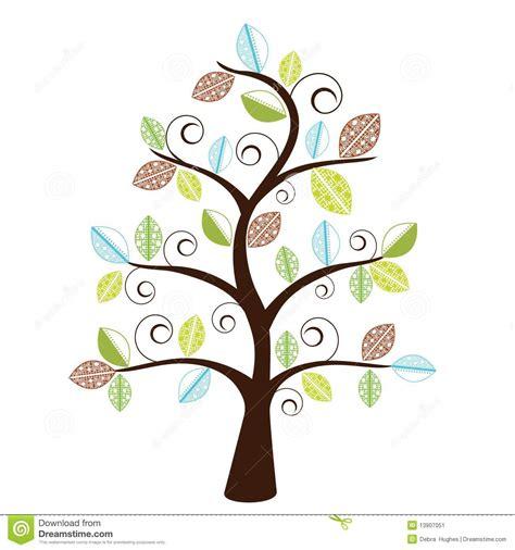 funky trees funky decorative tree stock image image 13907051