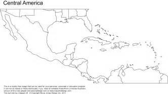blank map of central america and mexico