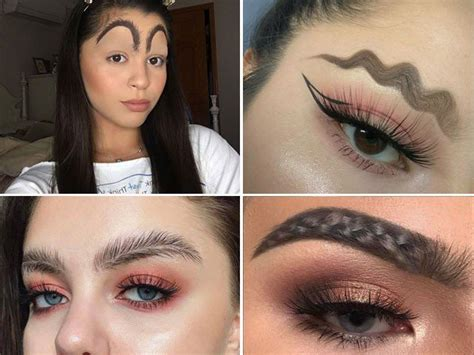 current eyebrow style 4 bizarre eyebrow trends that need to end right now