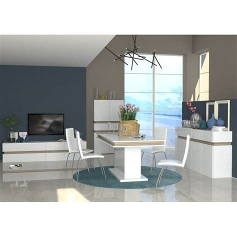 Table Salle A Manger Design Blanc Laque by Table De Salle 224 Manger Design Extensible Blanc Laqu 233