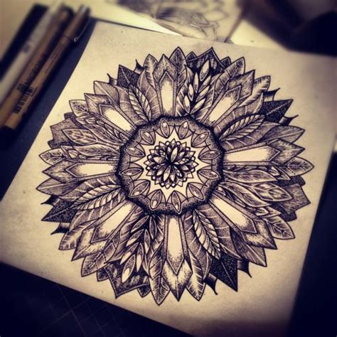 sunflower mandala tattoo meaning http leshacaez tumblr com instagram leshacaez
