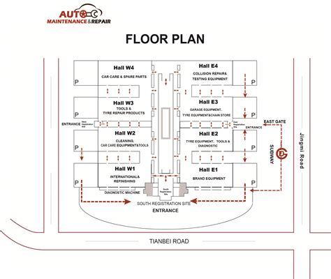auto floor plan amr2018 auto maintenance repair expo