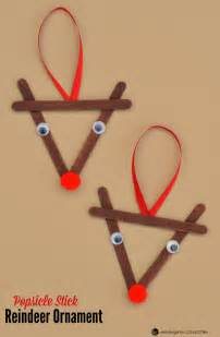 Good Christmas Crafts For Kids - popsicle stick reindeer kid christmas ornament