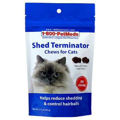 How To Decrease Cat Shedding by Shed Terminator Chews For Cats 90ct Ebay