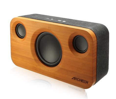Cool Looking Speakers bamboo bluetooth speaker the awesomer