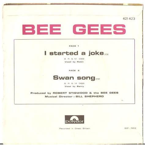 bee gees i started a joke video dailymotion i started a joke swan song by bee gees sp with tomb1664