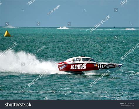 fast boat races key west key west floridanovember 7 world offshore stock photo