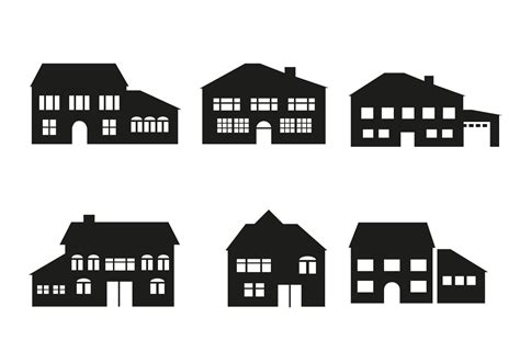 free house free house architecture vector download free vector art