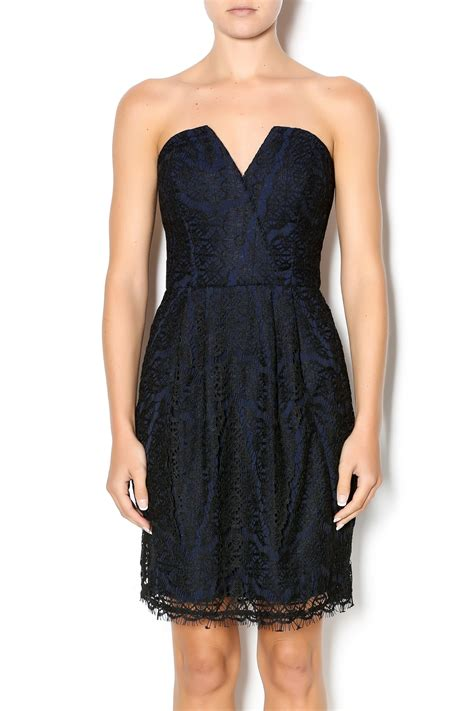 Adelyn Sabrina Dress B L F adelyn strapless lace dress from new york by just b