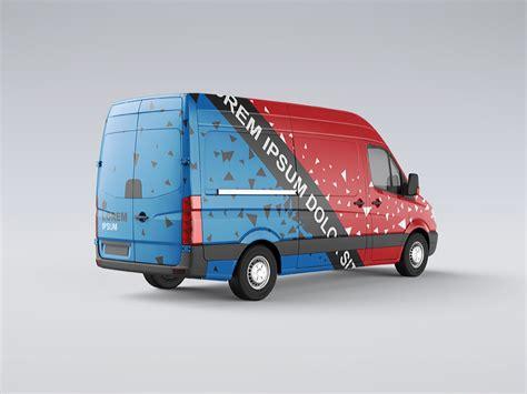 van design mockup van mock up by ayashi dribbble