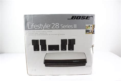 bose lifestyle 28 series iii dvd home entertainment system