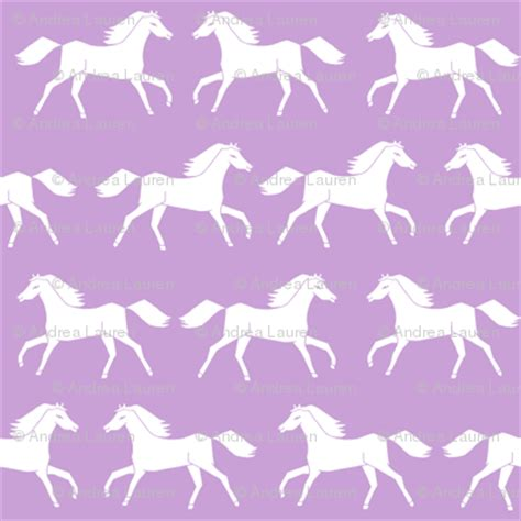 horses purple pastel girly print horse  girls