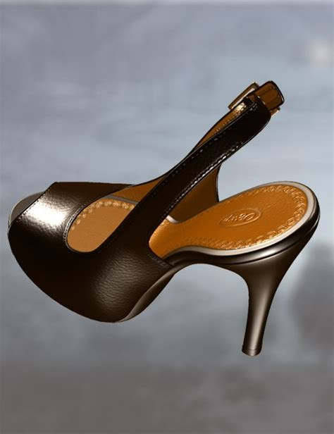 Motix Air Toe Black White peeptoe pumps