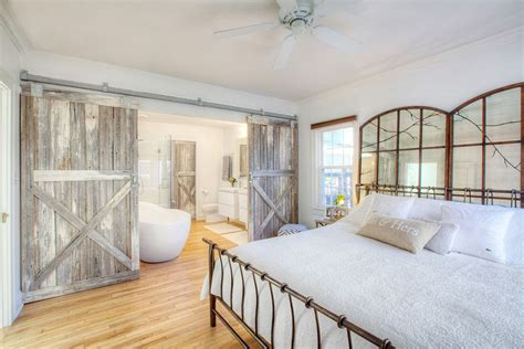 farmhouse style bedroom farmhouse style bedroom with reclaimed wood barn doors