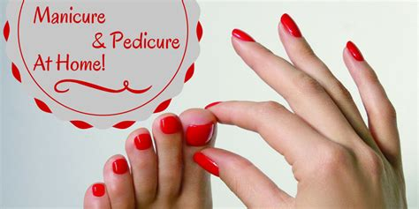 do your manicure and pedicure at home with this easy guide