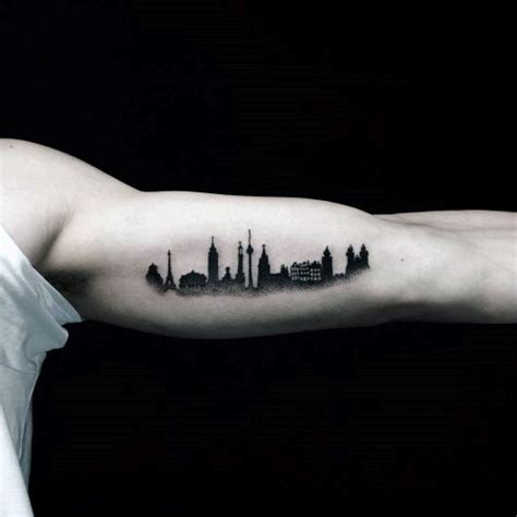 building tattoo designs 70 city skyline designs for downtown ink ideas