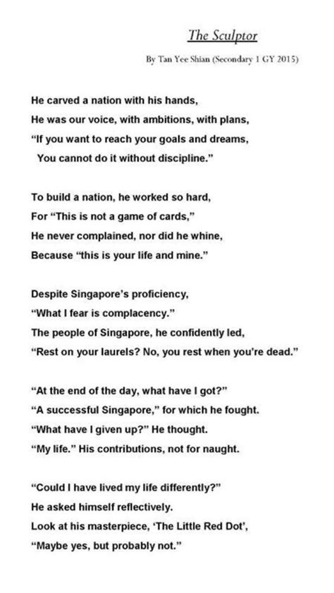 Who was lee kuan yew? a #poem by a (grade 7) singapore