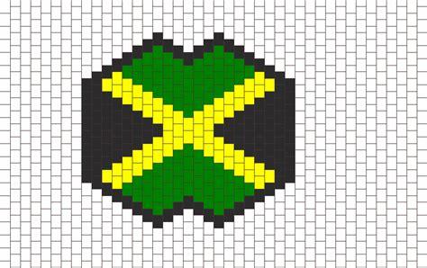 jamaica pattern image gallery jamaican flag perler