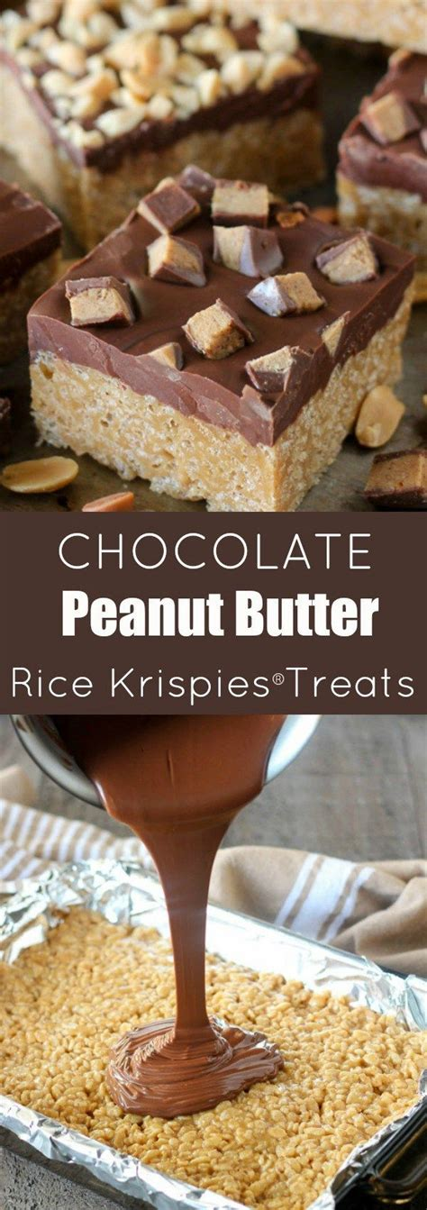 peanut butter rice krispie bars with chocolate topping 1000 images about bars on pinterest nutella bar