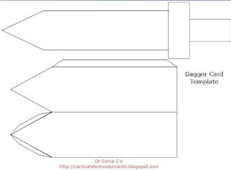 cardboard template sword templates cardboard cards crafts projects