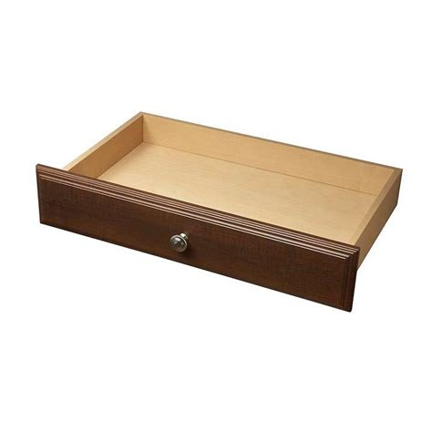 closetmaid narrow drawer kit closetmaid impressions 8 in h cherry narrow drawer