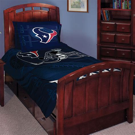 nfl bedroom decor houston texans nfl twin comforter set 63 quot x 86 quot