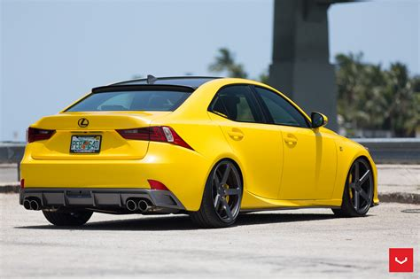 lexus yellow lfa yellow lexus is 350 sits on vossen wheels autoevolution