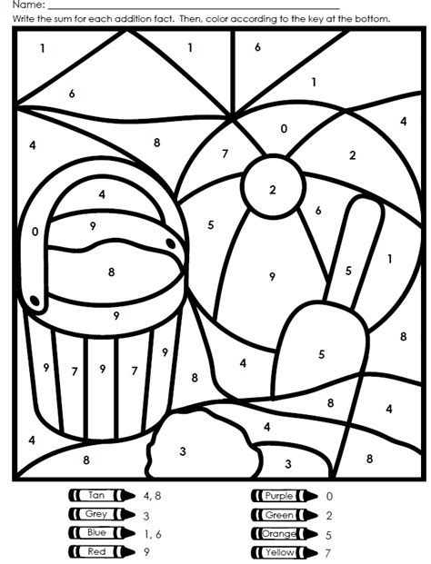 color by number worksheets free printable color by number worksheets az coloring pages