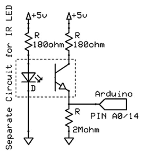 typical pull resistor contare con foto interrupter