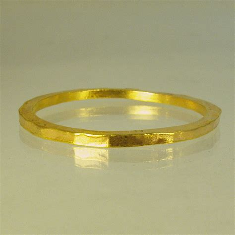 24 Karat Gold by Solid Gold Wedding Band 24 Karat Solid Gold By