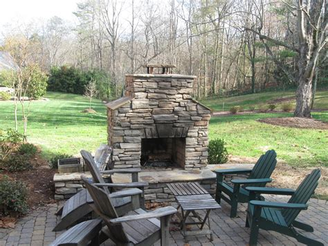 fireplace backyard outdoor firepit archadeck of charlotte