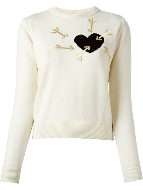Sweater Arrow 3 carven and arrow embroidered sweater in lyst