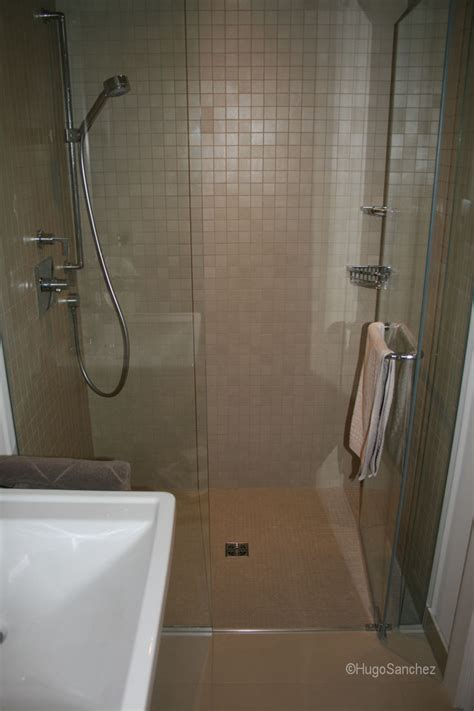basement curbless shower c233ramiques hugo sanchez inc