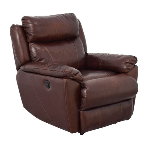 macys recliner chairs 61 off macy s macy s brown leather power recliner chairs