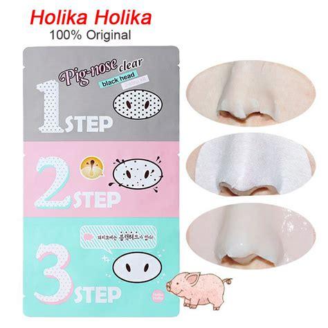 Holika Holika Nose Blackhead Remove 3 Steps Masker Hidung blackhead cleansing purifying peel acne pimples