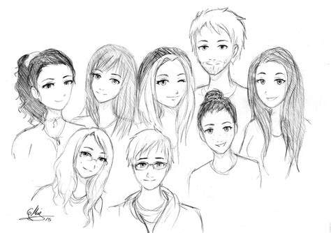 Drawing W Friends by College Friends Sketch By Malugi On Deviantart