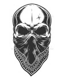 illustration of skull in bandana on face by imogi