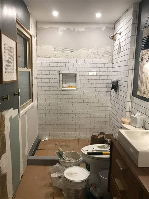 Modern Subway Tile Bathroom by Modern Subway Tile Bathroom Our Modern Subway Tile
