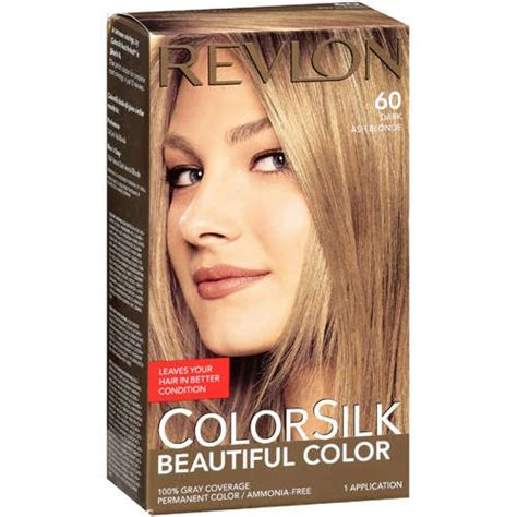hair colour 60 revlon colorsilk dark ash blonde n60 permanent dark