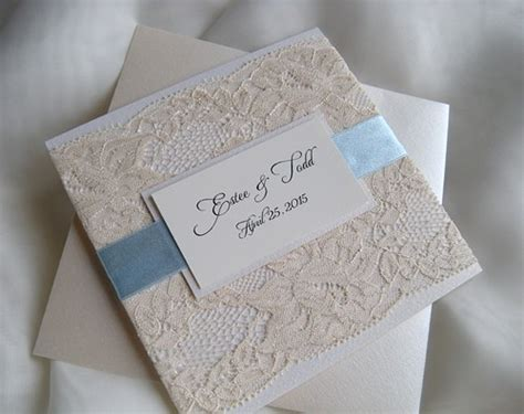 Wedding Invita by Wedding Invitation Lace Wedding Invitation Blue Wedding