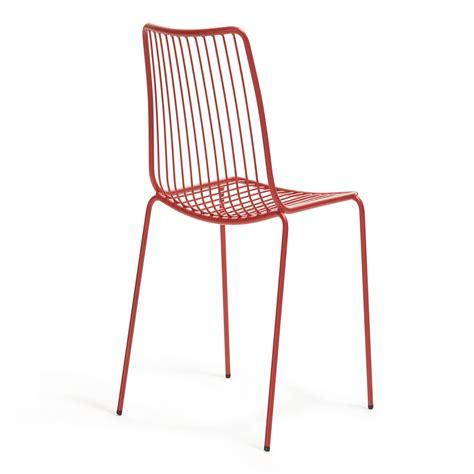 sedia con schienale alto sedia da giardino nolita con schienale alto by pedrali