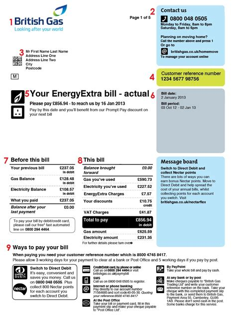 28 uk utility bill template documents bank