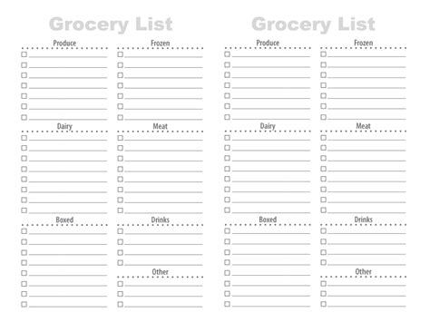 free printable grocery list templates 28 free printable grocery list templates baby