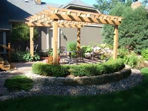 landscaping and texture around pergola backyard pinterest