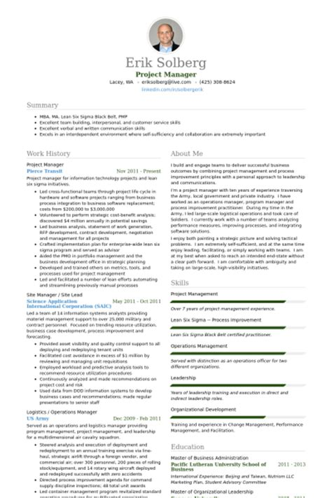 project manager resume format project manager resume sles visualcv resume sles database