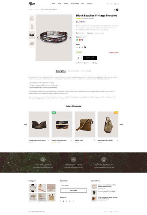 moza minimal ecommerce psd template by clevertheme
