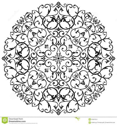 wedding invitation ornament circles arabic batik circle floral pattern ornament royalty free stock photo cartoondealer 61226883