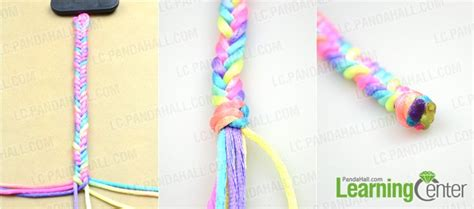 How To Make A String - how to make easy rainbow string bracelet quickly in five